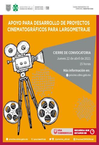DESARROLLO DE PROYECTOS CINEMATOGRÁFICOS PARA LARGOMETRAJE