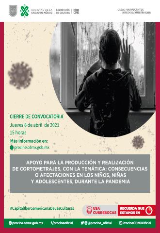Apoyo Cortometrajes Consecuencias o afectaciones en niños, niñas y adolescentes, durante la pandemia