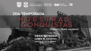 """CAPITAL 21 ESTRENA LA SEGUNDA TEMPORADA DE """"NUESTRAS CONQUISTAS"""", UN PROGRAMA DE CORTE HISTÓRICO CONDUCIDO POR PEDRO SALMERÓN"""