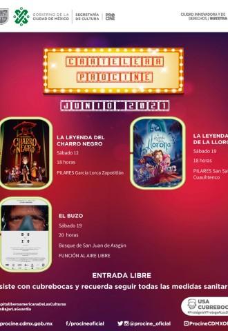Cine en junio: Funciones presenciales y al aire libre
