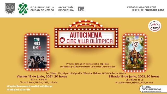 Las noches de Autocinema regresan al Cine Villa Olímpica