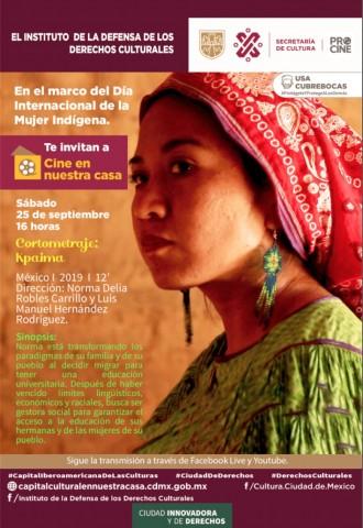 INDECULT y PROCINE te invitan a ver el corto 'Kpaima' en el marco del Día Internacional de la Mujer Indígena